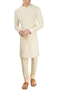 Cream kurta & churidar