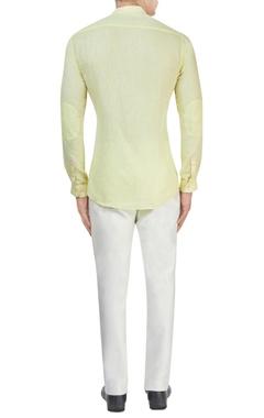 Pastel yellow linen shirt