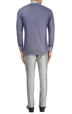 Navy blue paneled shirt