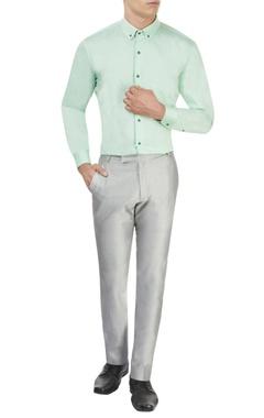 Mint green tailored shirt
