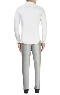 Cream tailored shirt