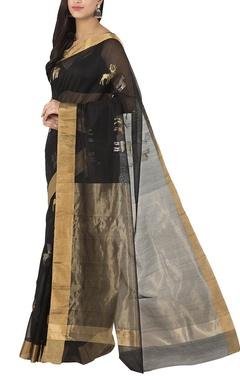 black deer chanderi sari