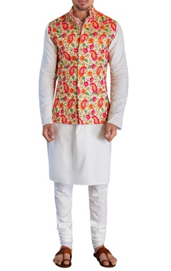 Siddhartha Tytler - Men Waistcoat with kurta & churidar