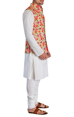 Waistcoat with kurta & churidar