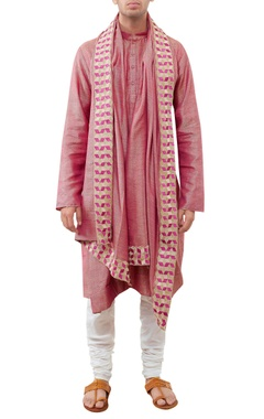 Siddhartha Tytler - Men Kurta with malmal churidar & dupatta