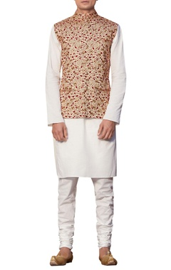 Siddhartha Tytler - Men Embroidered waistcoat with kurta & churidar