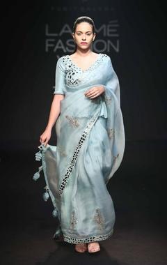 Punit Balana Patra work sari with blouse