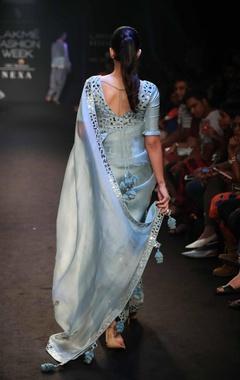 Patra work sari with blouse