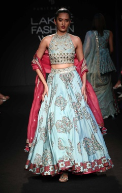 Lehenga skirt with blouse & dupatta