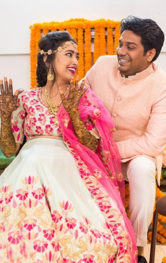 Blush pink sherwani jacket