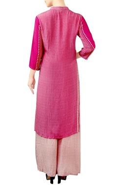 Pink palazzo kurta set