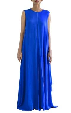 cobalt blue panelled dress