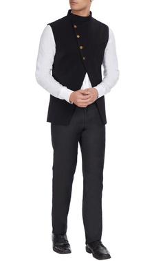 SVA - Sonam and Paras Modi - Men Black volvo cross-over style jacket