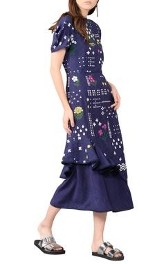 deep blue modal midi dress