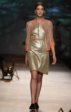Antique gold sequinned dress