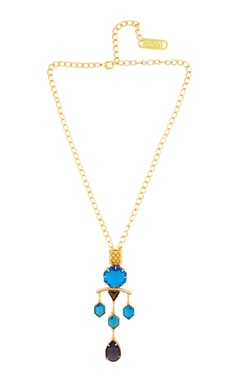 Valliyan Crystal studded long necklace