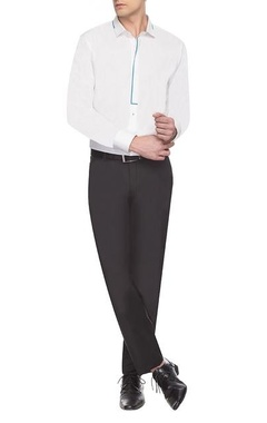 White & blue detailed shirt
