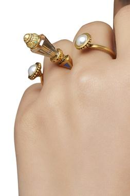 Amrapali Baroque Two-Finger Ring