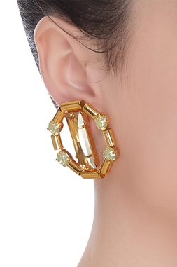 Crystal Studded Earrings