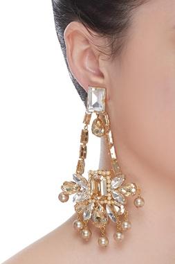 Crystal studded Chandelier Earrings