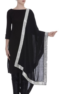 Gota patti embroidered border shawl