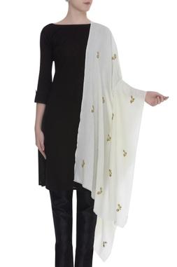 Zardosi and aari embroidered shawl