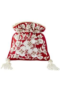 Floral Embroidered Potli bag