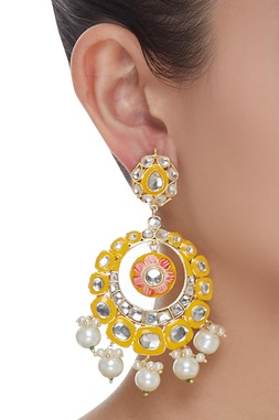 Meenakari Chandbali Dangler Earrings