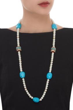 Meenakari Pearl Long Necklace