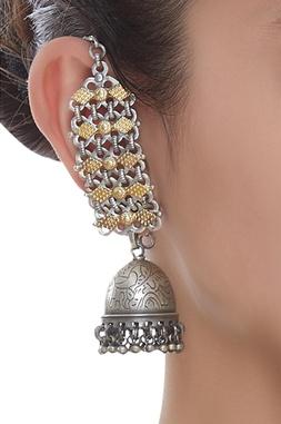 Banjara Extended Chain Jhumka earrings