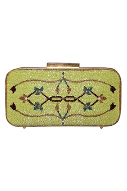 Beads Embroidered Rectangular Clutch