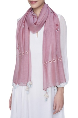 Thread embroidered stole