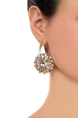 Gold finish bali style earrings