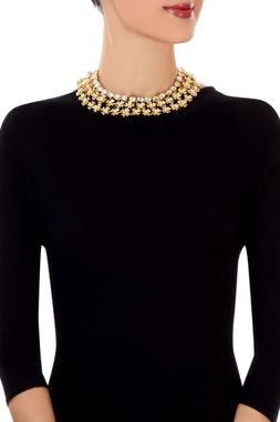 Gold floral motif necklace