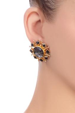 Black & gold earrings