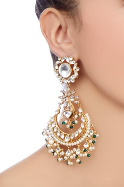 Gold plated earrings with beads