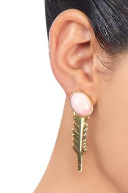 Gold plated opal earrings