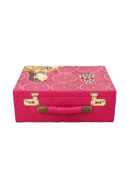 Pink printed jewellery bridal trunk