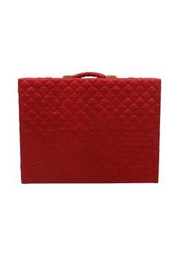 Red mevar mahal jewellery trunk