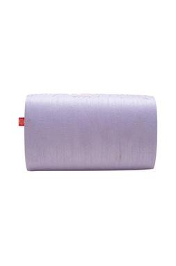Lilac cutdana clutch with button closure