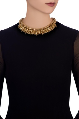 Gold plated choker necklace