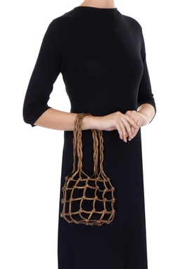 Bronze knot style potli