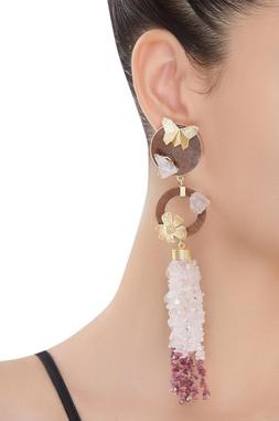 Butterfly Rosequart Earrings
