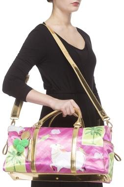 Pink digital printed handbag