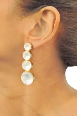 Gold & silver crystal drop earrings
