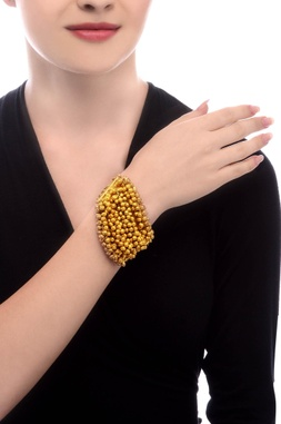 Gold plated bracelet with ghungroos