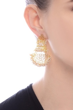 Gold plated filigree design danglers