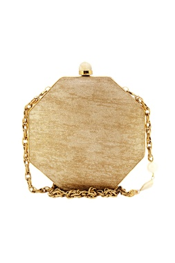 Gold metal bag