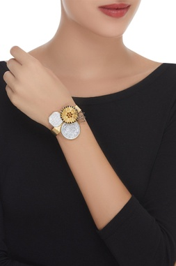 Flower & Coin Adjustable Cuff