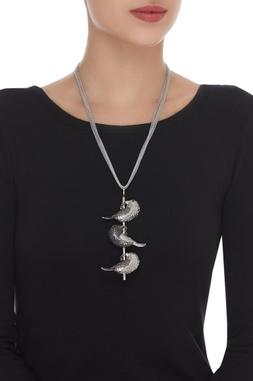 Bird Charm Long Necklace